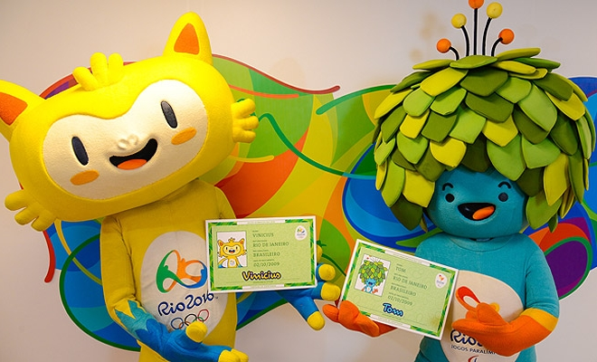 Tom and Vinicius are the names for Rio Olympics Mascots