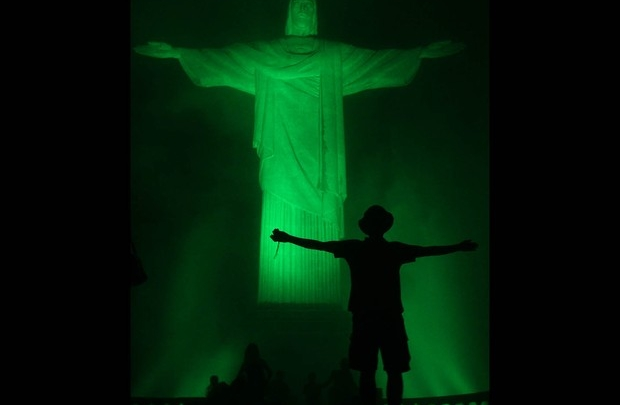 Rio's Christ is Green for St Patrick
