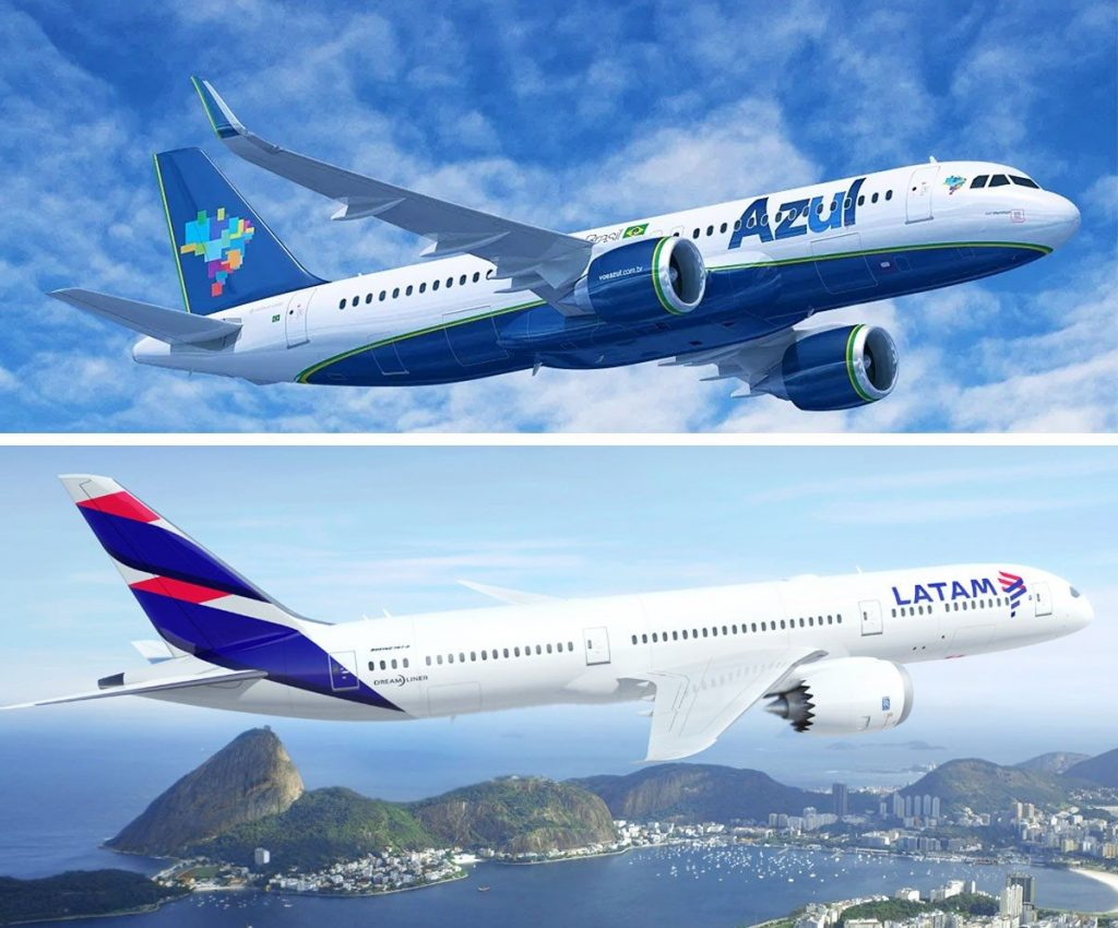 codeshare, azul, latam, brazil, airlines, partnership